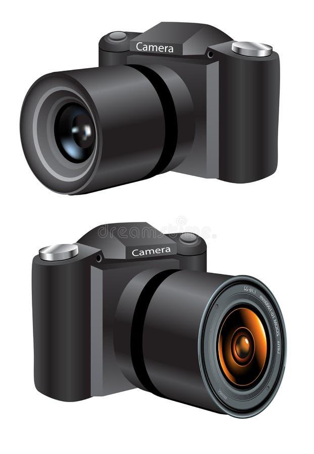 Digital Camera. An illustration of a digital camera stock illustration