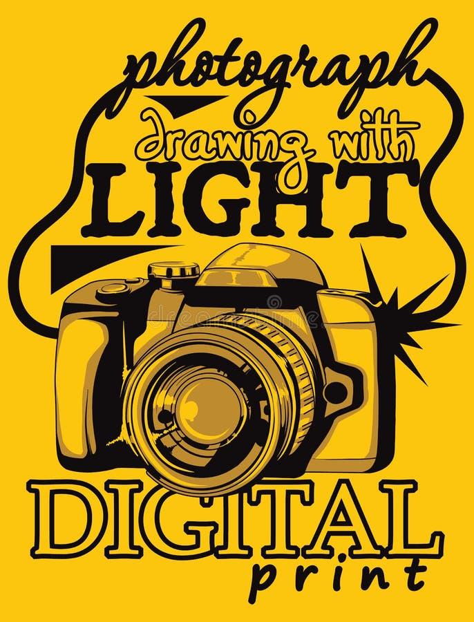 Digital camera. Illustration vector format royalty free illustration