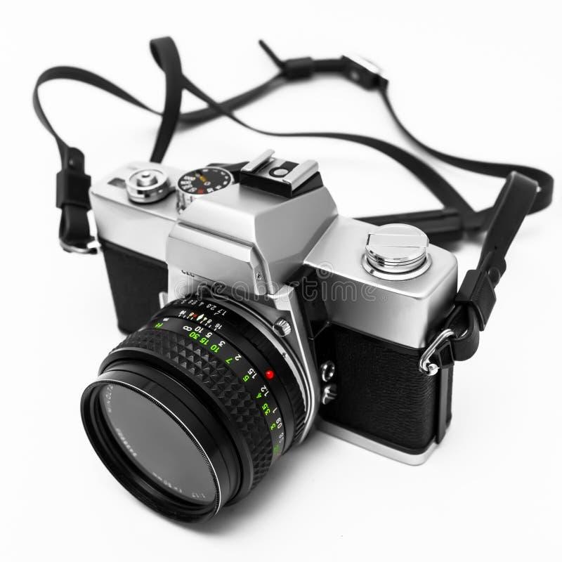 Digital Camera Isolated On White Background DSLR Stock Image