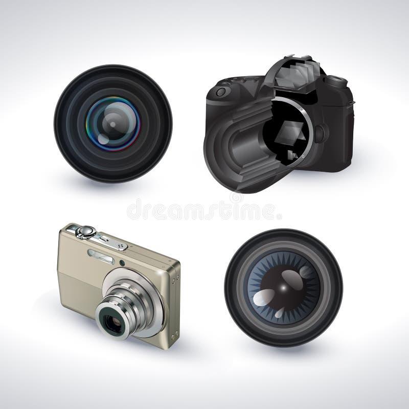 Digital Camera With Lens Stock Photos