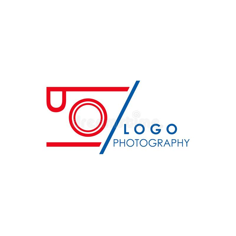 digital camera logo design, concept idea, vector illustration stock illustration