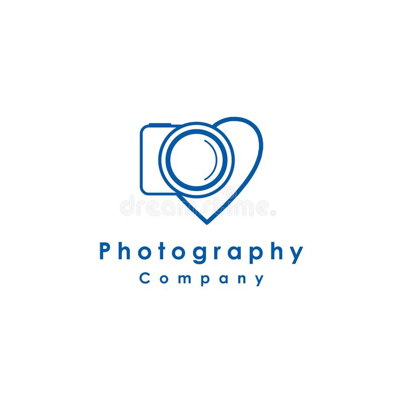 Digital camera logo design, concept idea, vector illustration. Photography, photographer, icon, lens, focus, symbol, modern, technology, studio, equipment royalty free illustration