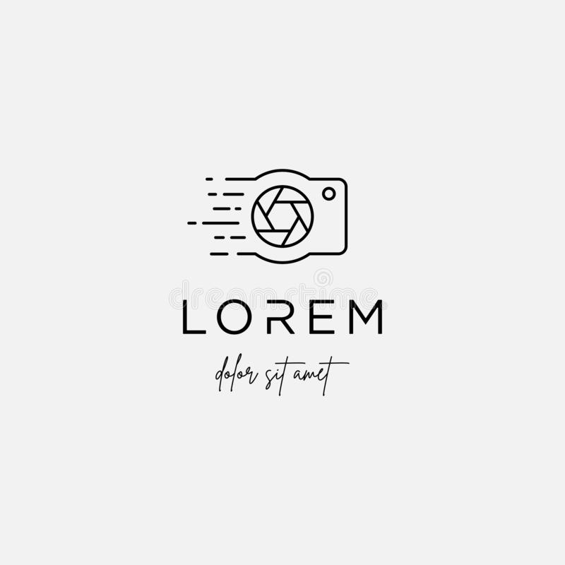 Digital Camera Logo Template Vector Design Symbol. Digital Camera Logo Template Vector Design Icon, photo, abstract, modern, technology, creative, studio royalty free illustration