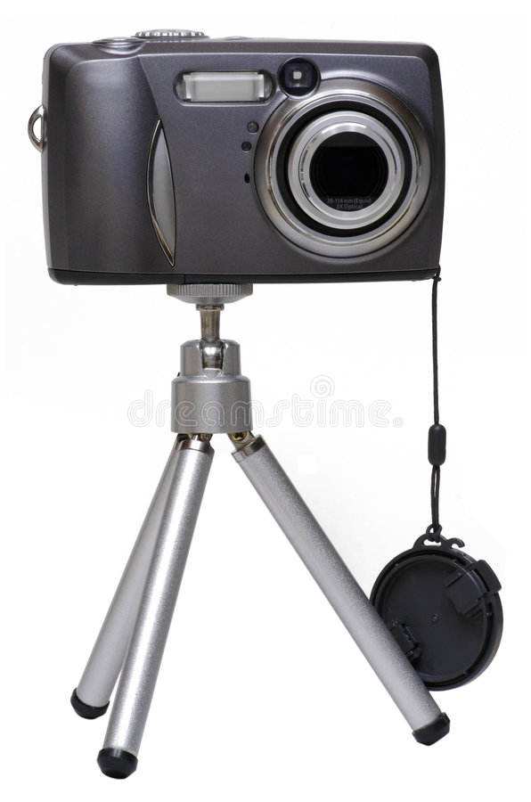 Download Digital Camera On A Tripod - Isolated Stock Image - Image: 618471