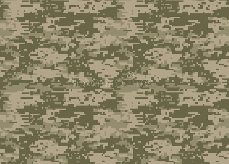 Digital camouflage pattern. Woodland camo texture. Camouflage p. Attern background. Classic clothing style masking camo print. colors forest texture. Design stock illustration