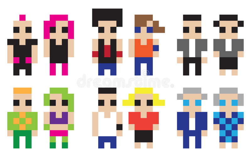 Download Digital Characters Royalty Free Stock Photos - Image: 6401558
