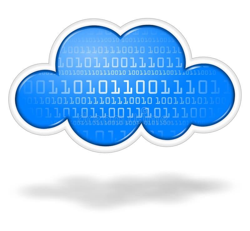 Digital chmura royalty ilustracja