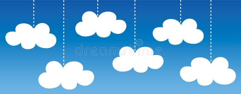 Digital chmury składowa pomocnicza pamięć ilustracji