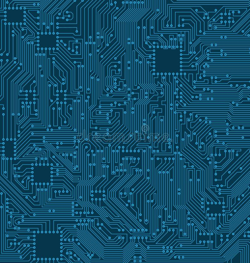 Digital Circuit Background. Texture of Processor, Motherboard stock illustration
