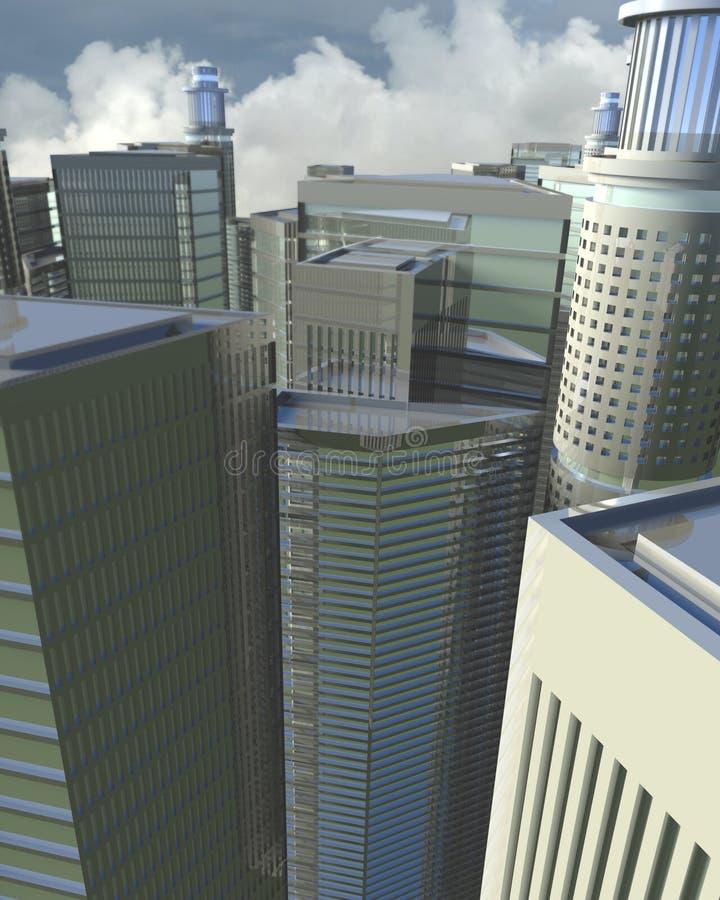 digital cityscape vektor illustrationer