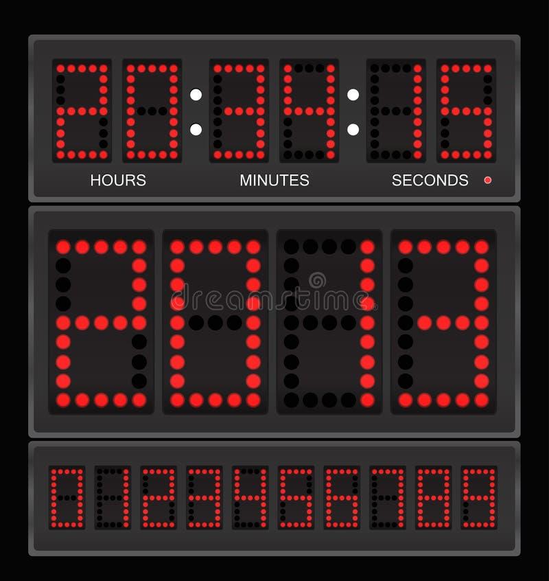 Download Digital clock stock vector. Illustration of board, deadline - 23785360
