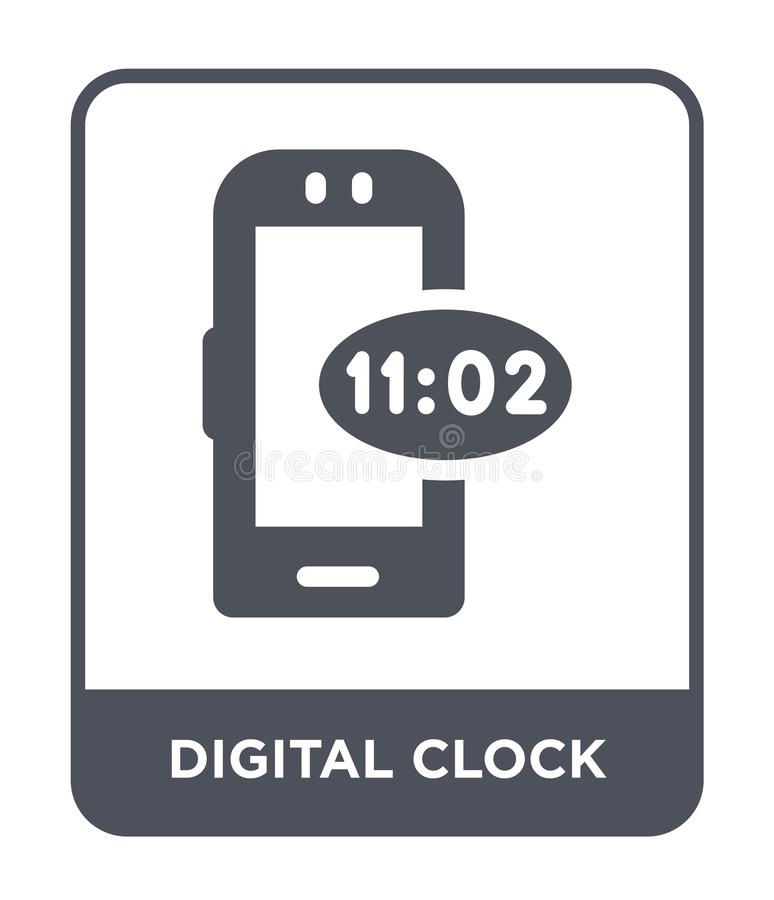 digital clock icon in trendy design style. digital clock icon isolated on white background. digital clock vector icon simple and royalty free illustration