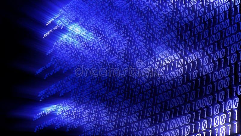 Digital code. Background - 3d rendered illustration