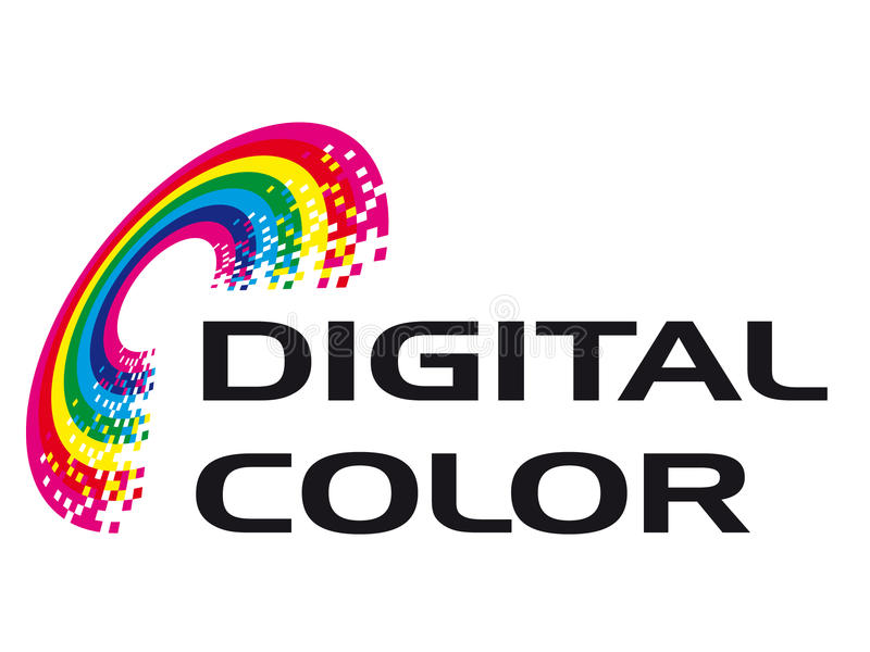 Digital Color. A logo that can be used for company branding