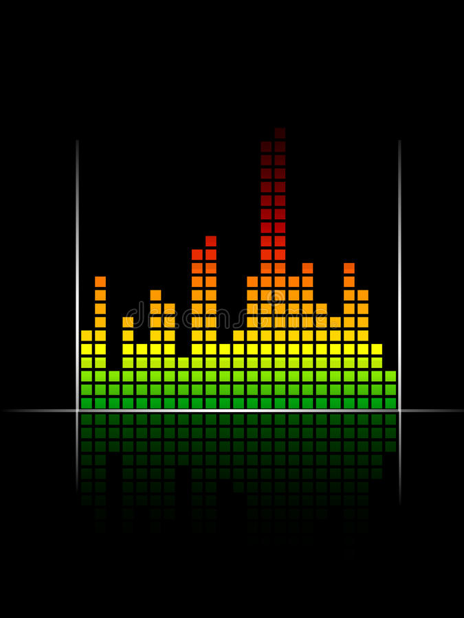 Download Digital Coloured Volume Equalizer With Green To Re Stock Vector - Image: 17714451