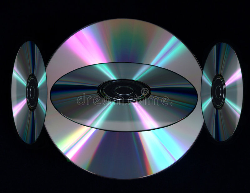 Digital Compact Discs royalty free stock images