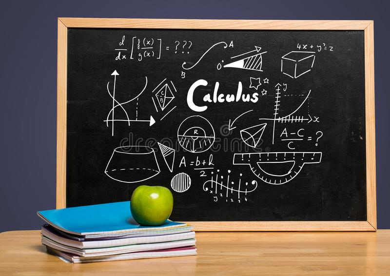 Calculus on blackboard. Digital composite of Calculus on blackboard vector illustration