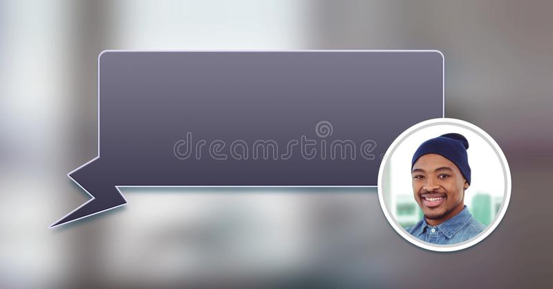 chat bubble messaging profile royalty free stock photo