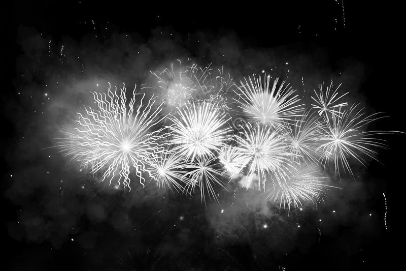 Digital composite of fireworks royalty free stock photo