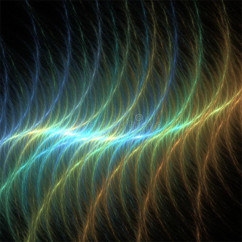 Digital computer fractal art abstract fractals rainbow wave stock illustration