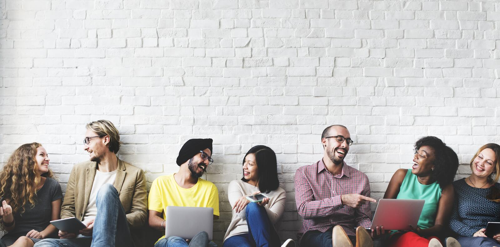 Download Digital Connection Technology Networking Team Concept Stock Image - Image of ethnicity, devices: 65007729