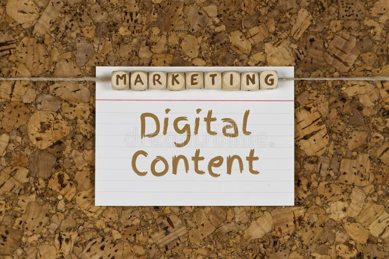 Digital content marketing stock image