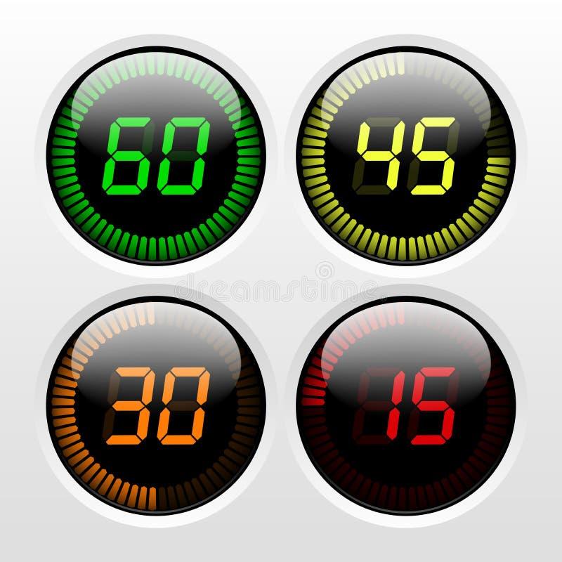 Digital-Count-down-Timer stock abbildung