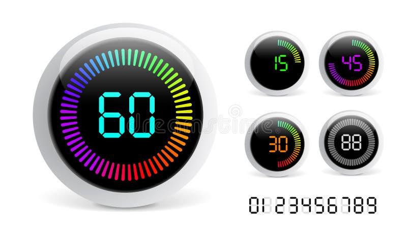 Digital-Count-down-Timer lizenzfreie abbildung