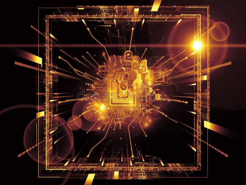 Download Digital CPU stock illustration. Image of math, network - 25528246