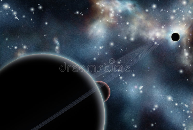 Download Digital Created Starfield With Cosmic Nebula Stock Photography - Image: 8260852