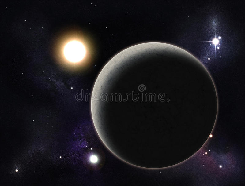 Download Digital Created Starfield With Planet Stock Image - Image: 12788917
