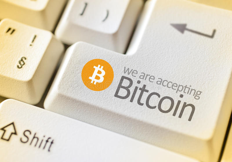 Digital currency Bitcoin royalty free stock images