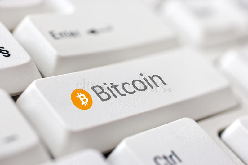 Digital currency Bitcoin. Virtual digital currency Bitcoin - internet open-source P2P payment network royalty free stock photography