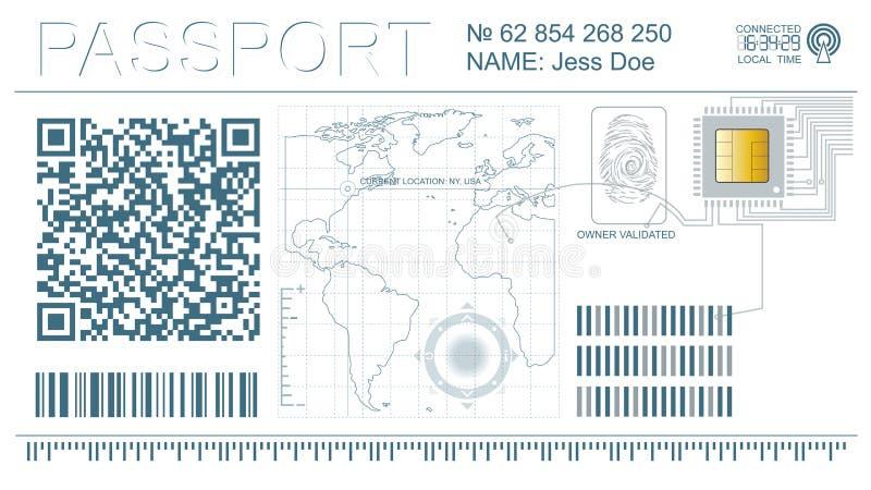 Download Digital cyber passport stock image. Image of design, modern - 25177483