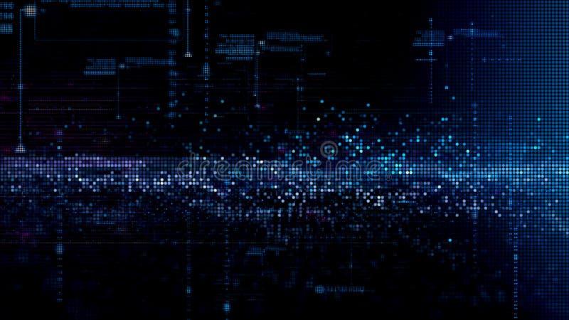 Digital-Cyber-Raum-Partikel vektor abbildung