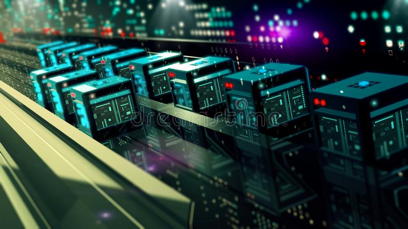 Digital cyberspace traffic data with binary code vector illustration