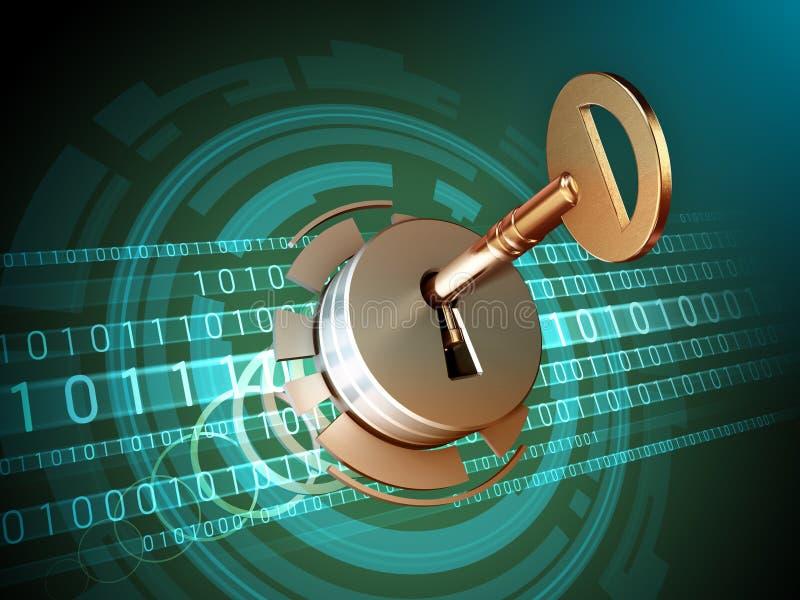 Digital data access vector illustration