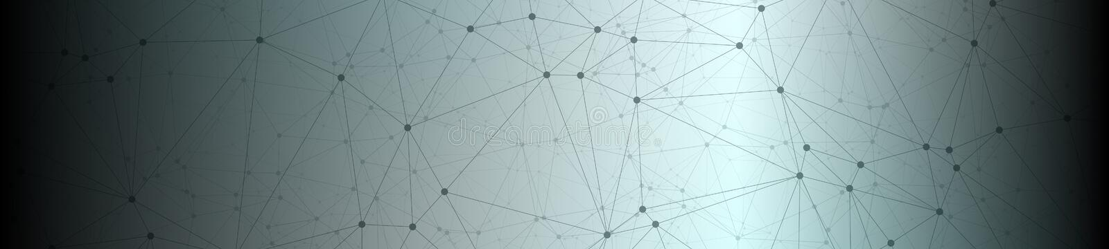 Digital data cyber network vector lines connected structure stock illustration