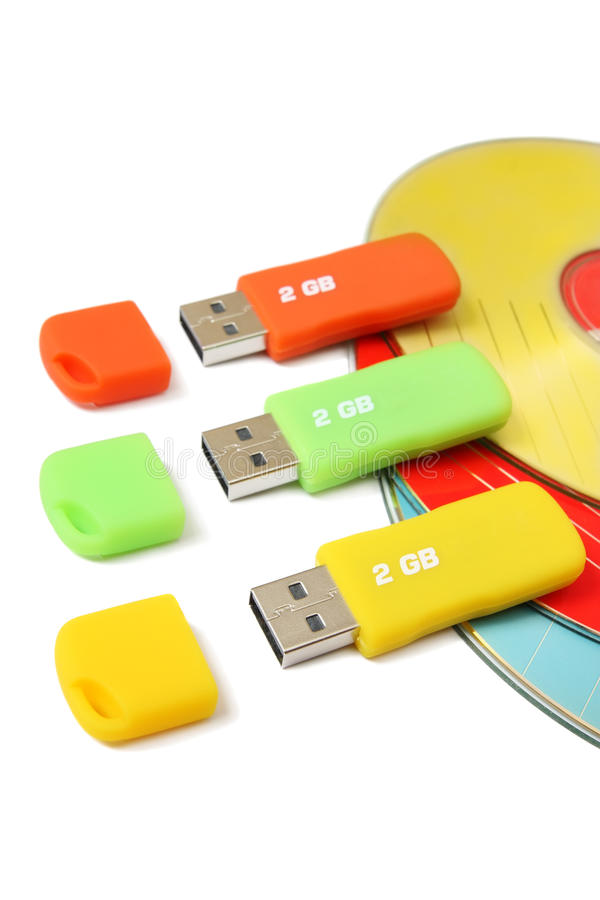 Digital data storage devices royalty free stock image