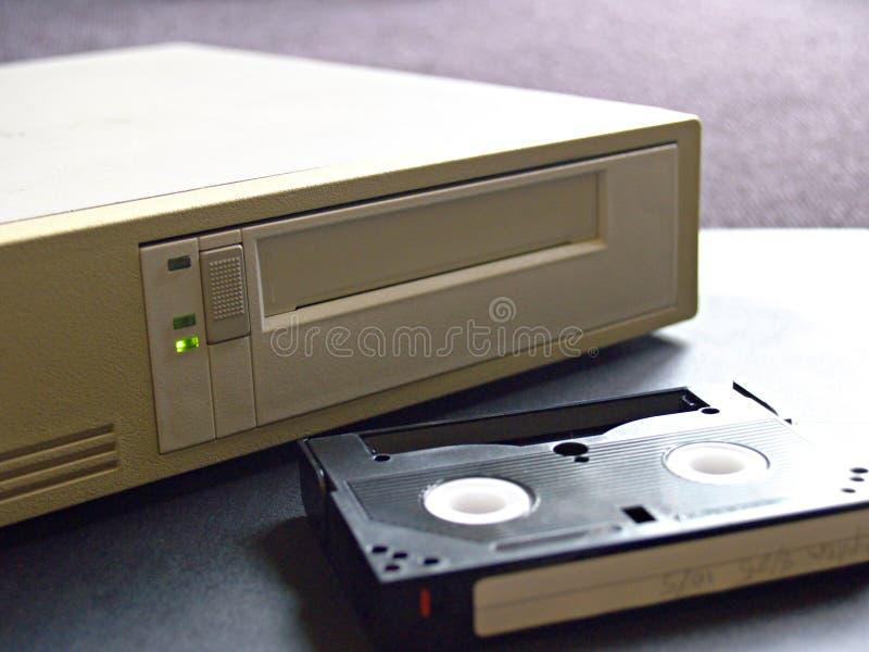 Digital data storage drive and digital tape stock image
