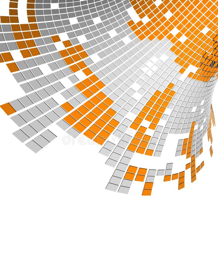 Digital data stream royalty free illustration