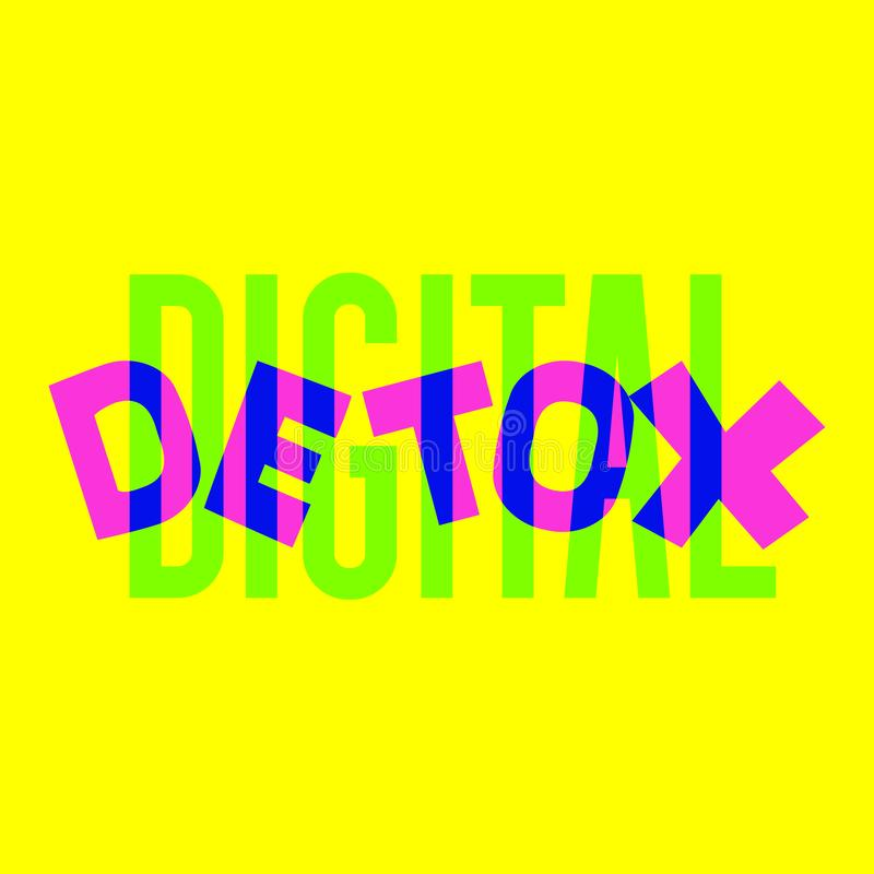 Digital detox hand drawn vector vector illustration
