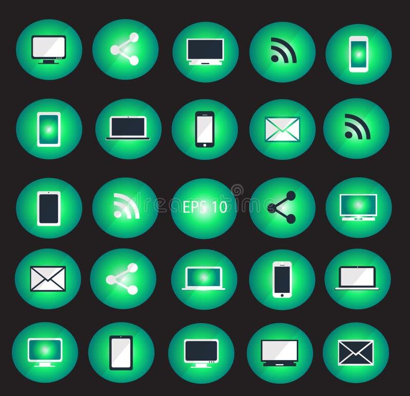 Digital devices icon set vector illustration vector illustration