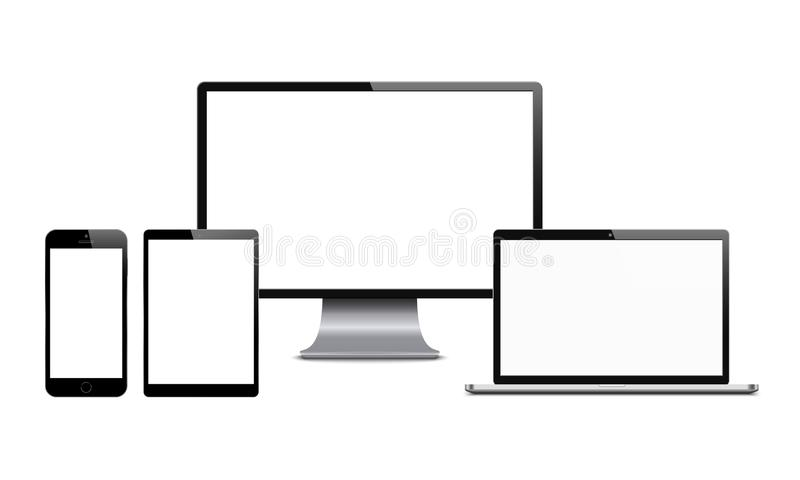 Digital devices stock illustration