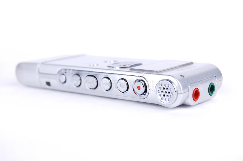 Digital dictaphone. On a white background stock images
