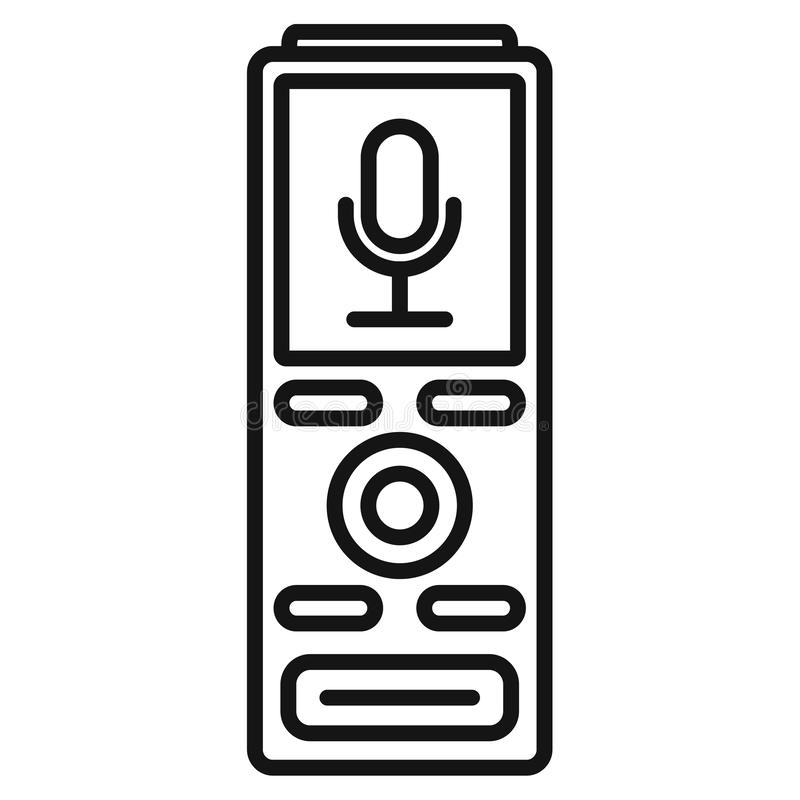 Free Digital Dictaphone Icon, Outline Style Stock Photos - 141624503