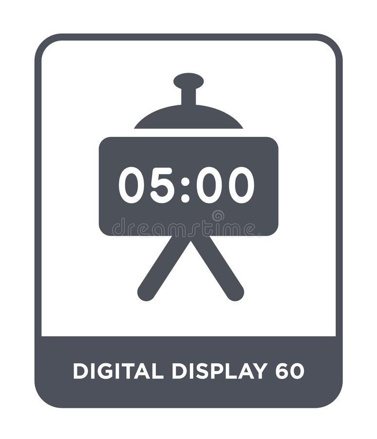digital display 60 icon in trendy design style. digital display 60 icon isolated on white background. digital display 60 vector vector illustration
