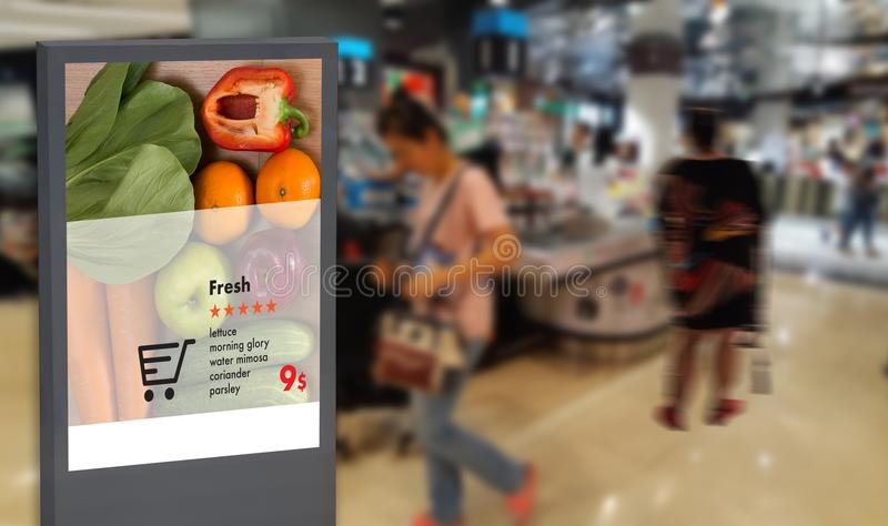 Digital display Intelligent Digital moniter Interactive artificial intelligence digital advertisement Signage royalty free stock image