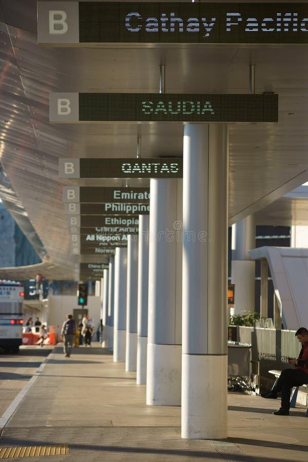 Digital displays airport LAX stock image