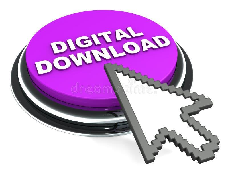 Digital download. Product delivery of digital asset, books, software or media vector illustration